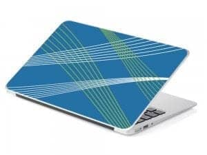 blue abstract line laptop device skin