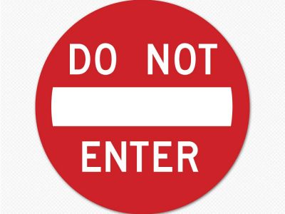 do not enter circle sign graphic sticker decal