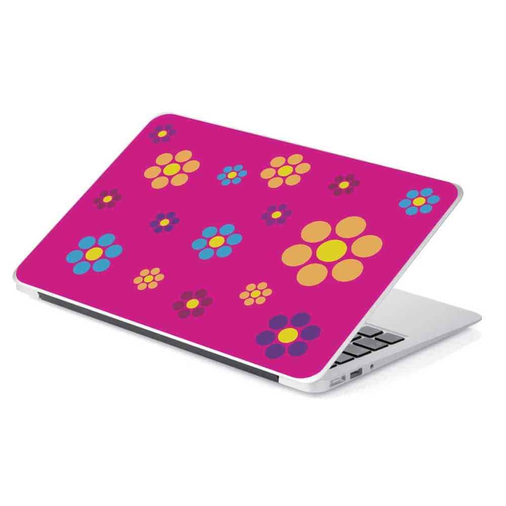 pink flower laptop device skin