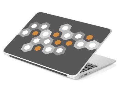 grey honeycomb hexagon laptop skin device removable