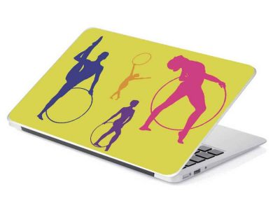 gymnastics hoop yellow removable laptop device skin