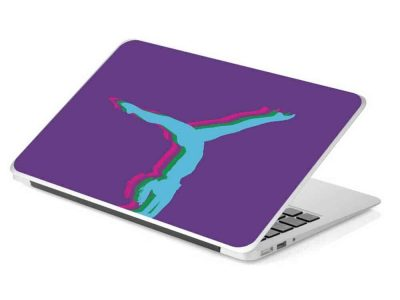 purple gymnastics laptop skin removable