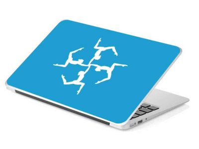 gymnastics flip laptop skin removable device