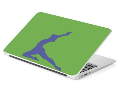 green gymnastics laptop removable device skin