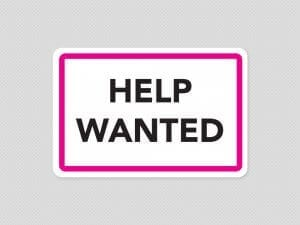 help wanted sign sticker stickleme graphic
