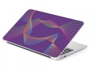 purple line abstract design laptop skin