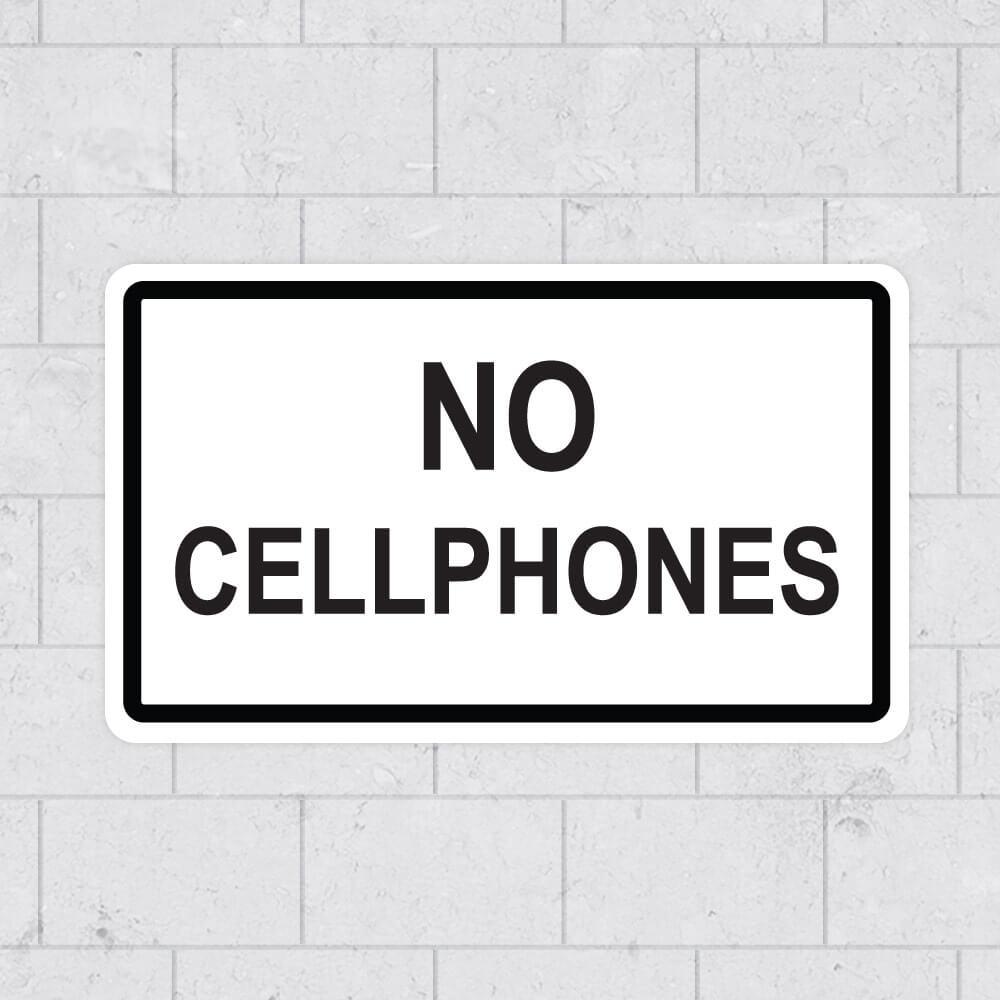 no cellphones school sign sticker stickleme