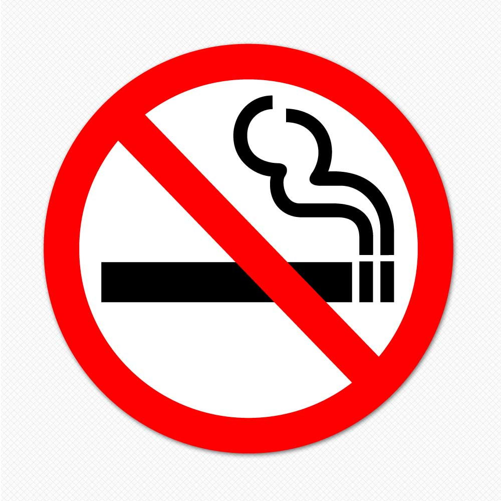 no smoking sticker decal removable sign graphic