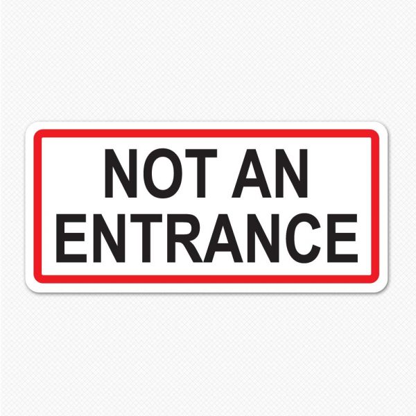not an entrance sign graphic removable sticker decal  sc 1 st  Sticker Genius & Other Door Arrow | Sticker Genius pezcame.com