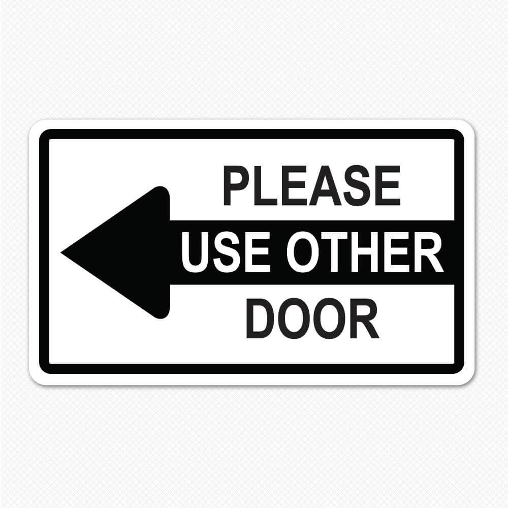 door stock durable on more in please printed lasting x styrene close plastic sign r p longer doors signs thicker lynch
