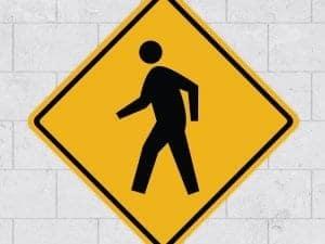 people walk sign wall sticker stickleme