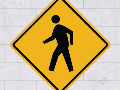 people walk sign wall sticker stickleme