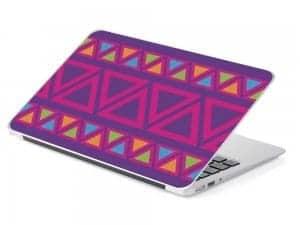 purple pink triangle laptop skin design device