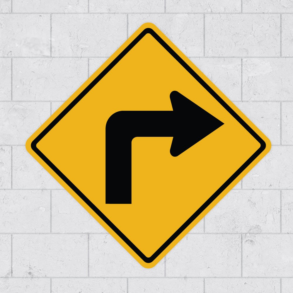 Road Sign Sticker Signs | Traffic Sticker Signs