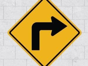 right turn wall sign sticker stickleme