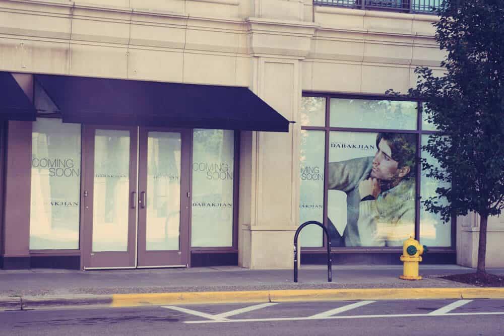 Sidewalk Window Posters