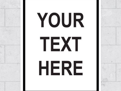your text here custom wall sign sticker