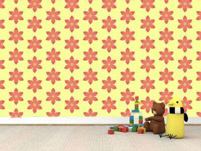 pink flower wallpaper wall graphics decor restickable