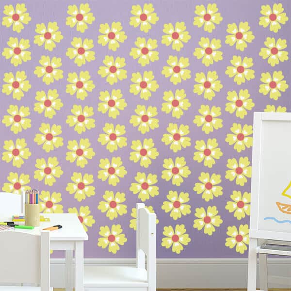 Daisy Wall Decals | Wall Stickers Flowers | Sticker Genius
