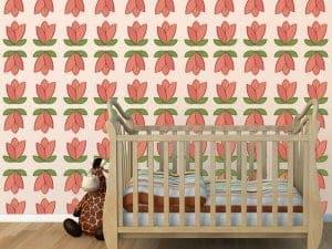 red petals room decor wall graphics restickable