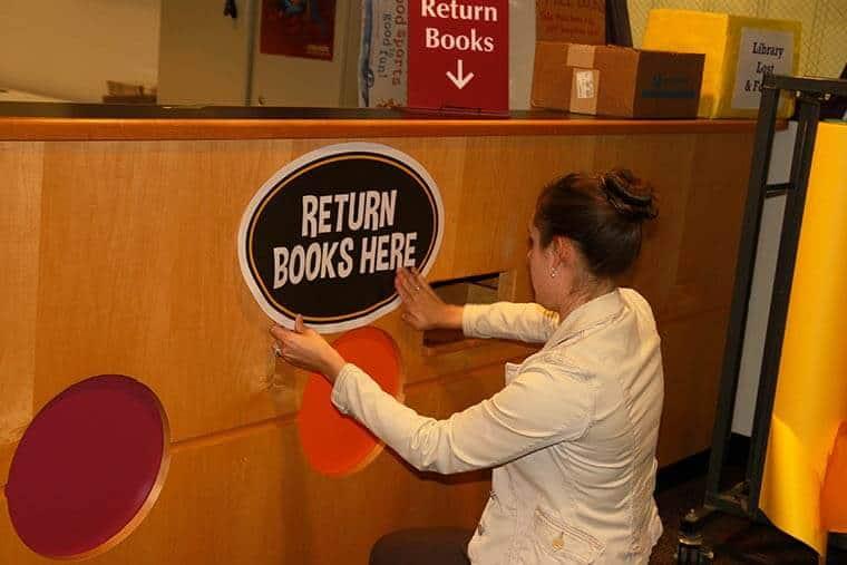 Book Return Library Sticker