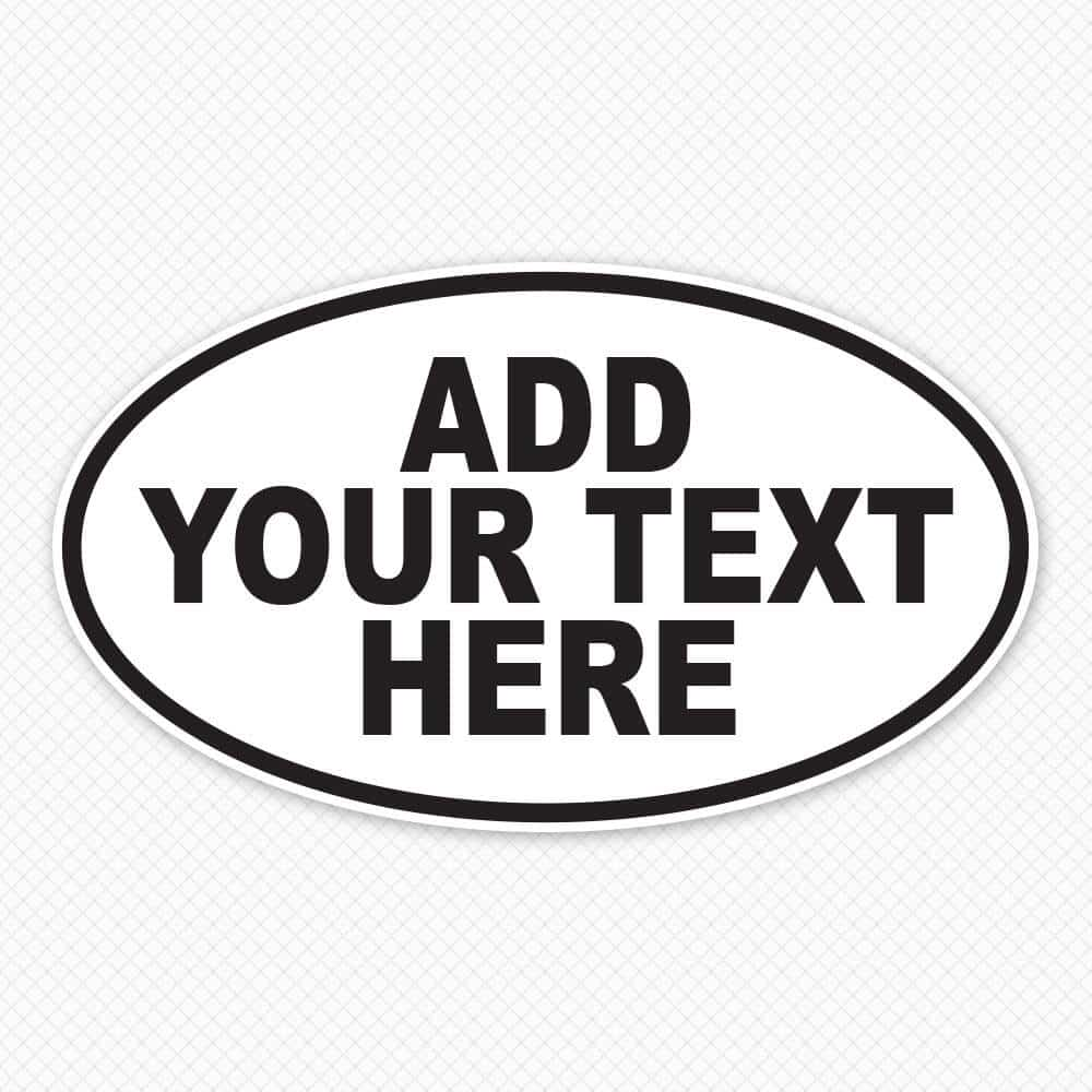 Oval Bumper Sticker Abbreviations Custom Oval Bumper