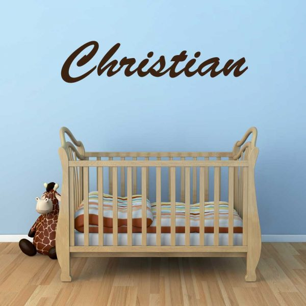 Baby Crib Name Wall Sticker Decor Graphic Room