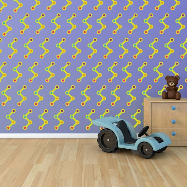 line dots room theme wall decor stickers restickable