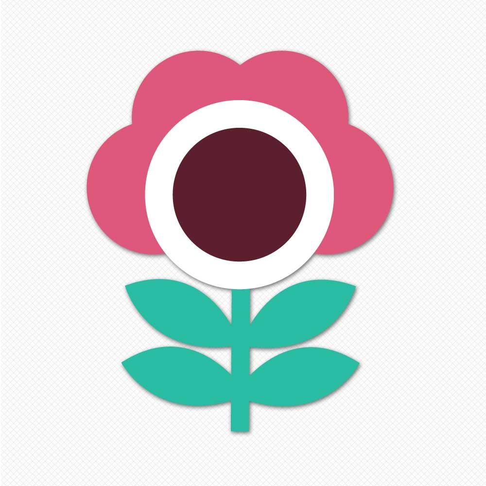 cartoon flower design graphics sticker wall decor