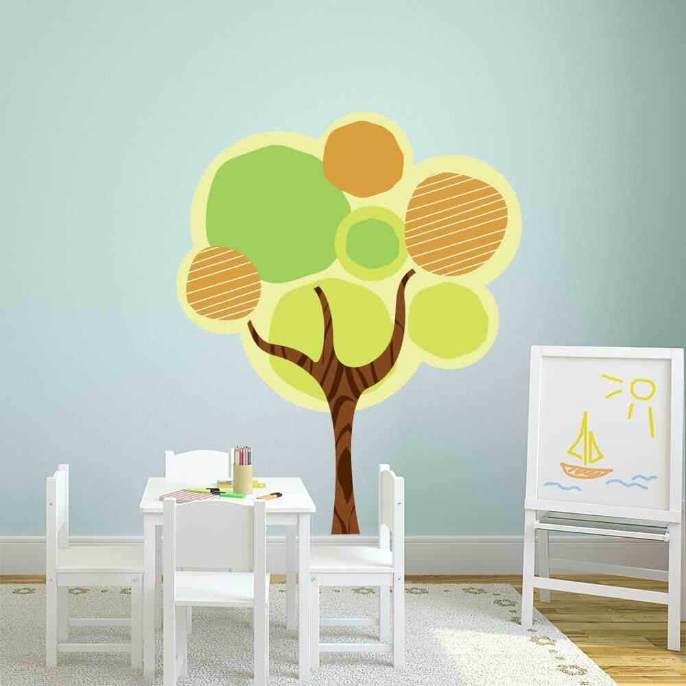 Tree Graphic Wall Sticker Decor Room Restickable
