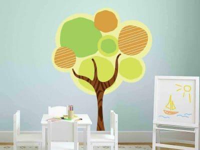tree graphic wall sticker decor room restickable