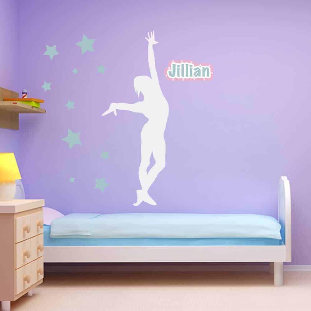 star gymnastics wall graphics room decor sticker