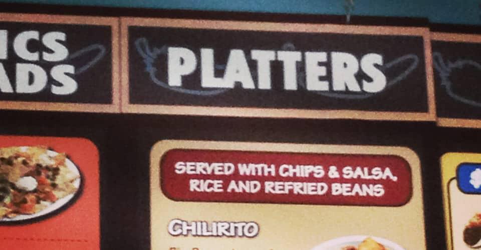 rio wraps restickable banner menu custom food platter sticker display