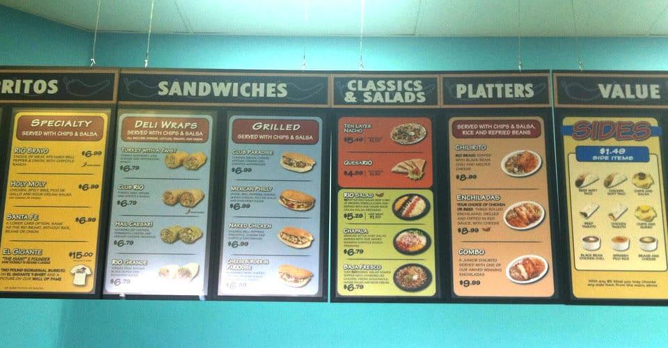 rio wraps menu display store food restickable reusable