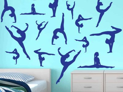 Color Dance Silhouettes Wall Graphic