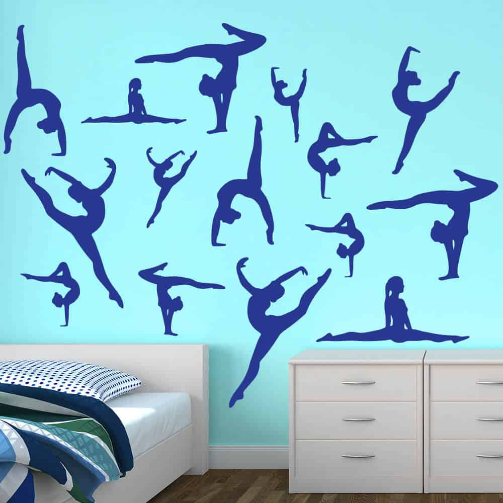 Dance Wall Stickers Dancer Silhouette Wall Decals
