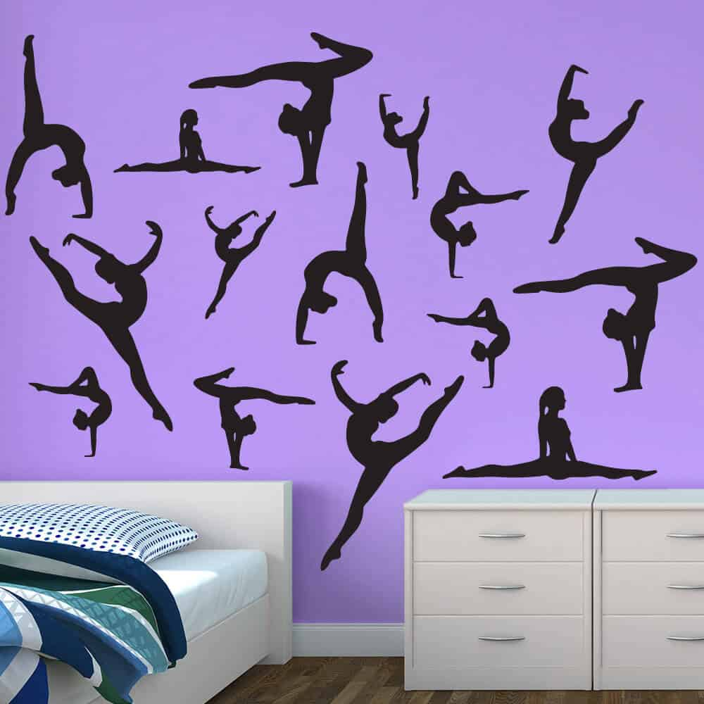dance wall stickers dancer silhouette wall decals dance wall decals ebay