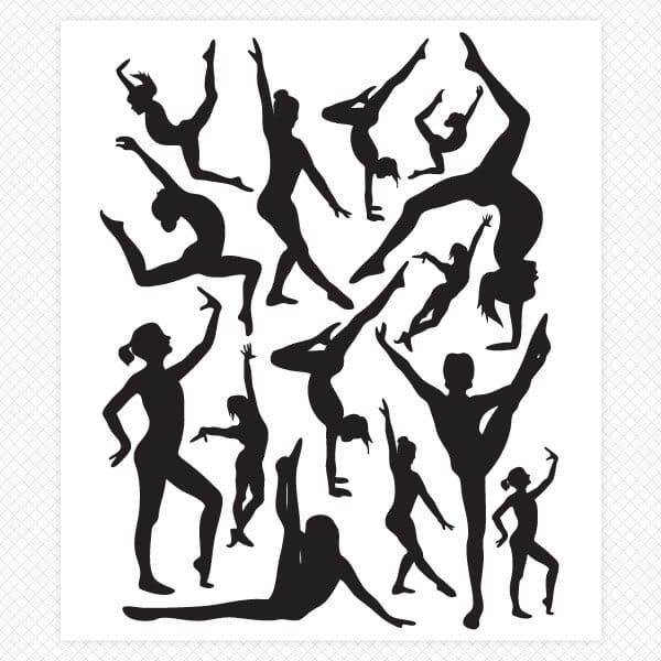 gymnastics wall decals room decor stickers dancer