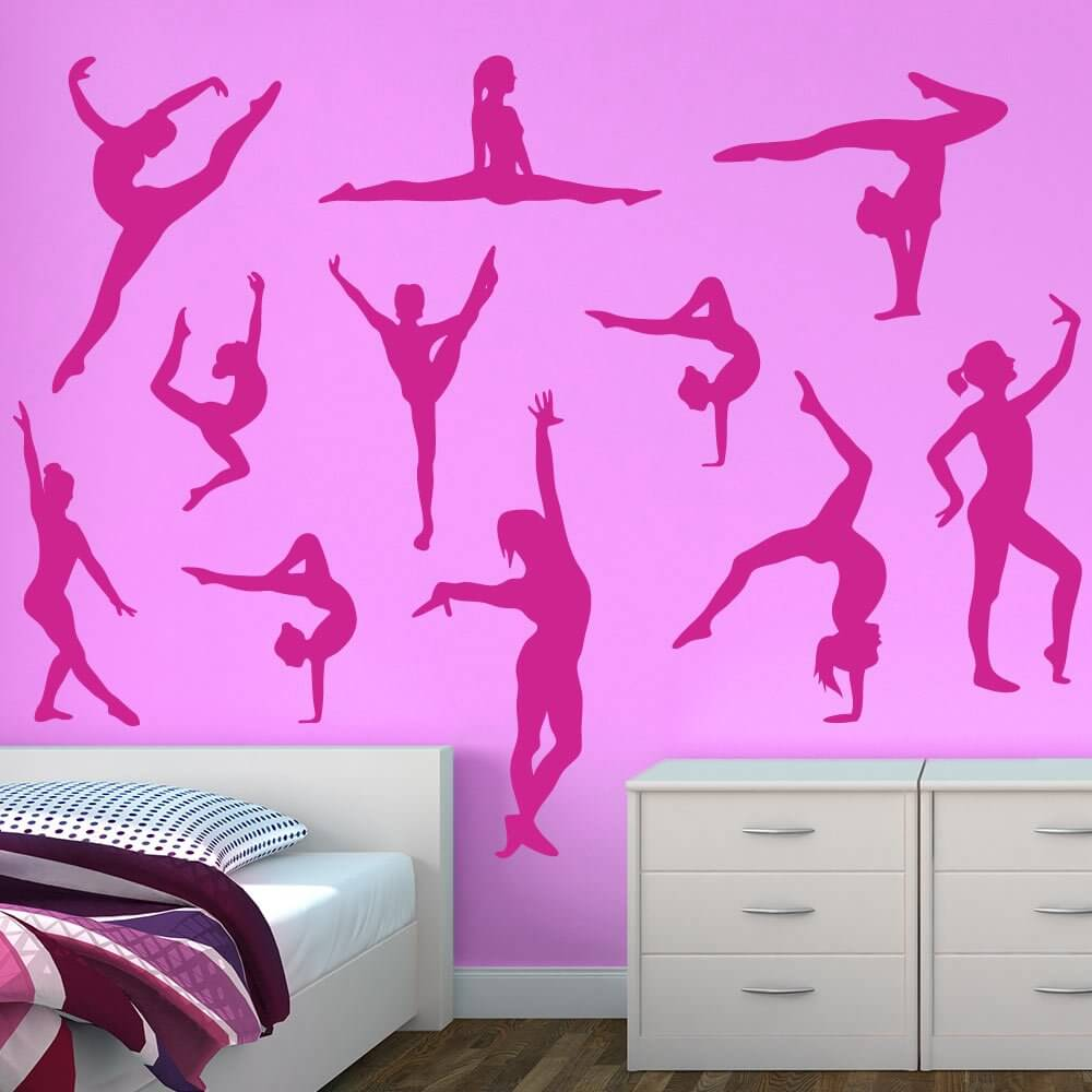 Bon Darling Dancers Silhouette Wall Decals