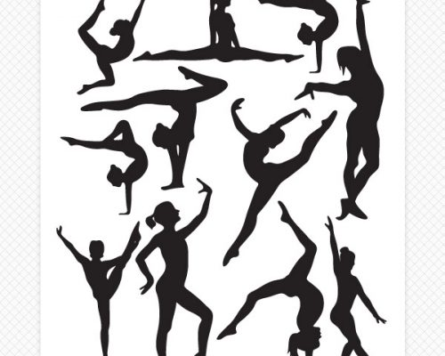 Darling Dancers Silhouette Wall Decals
