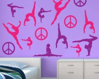 Gymnastics Wall Sticker Restickable Decals