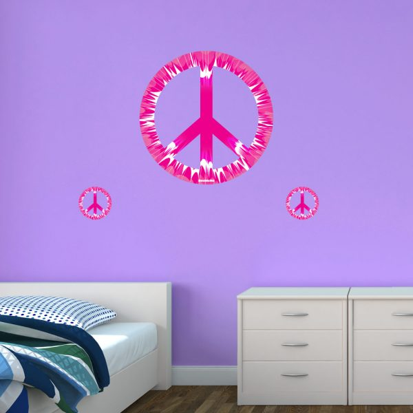 Peace Sign Bedroom Accessories: Removable Wall Decorations