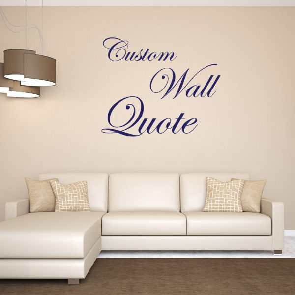 Custom Wall Quote Sticker Decal Room Decor Restickable Part 91