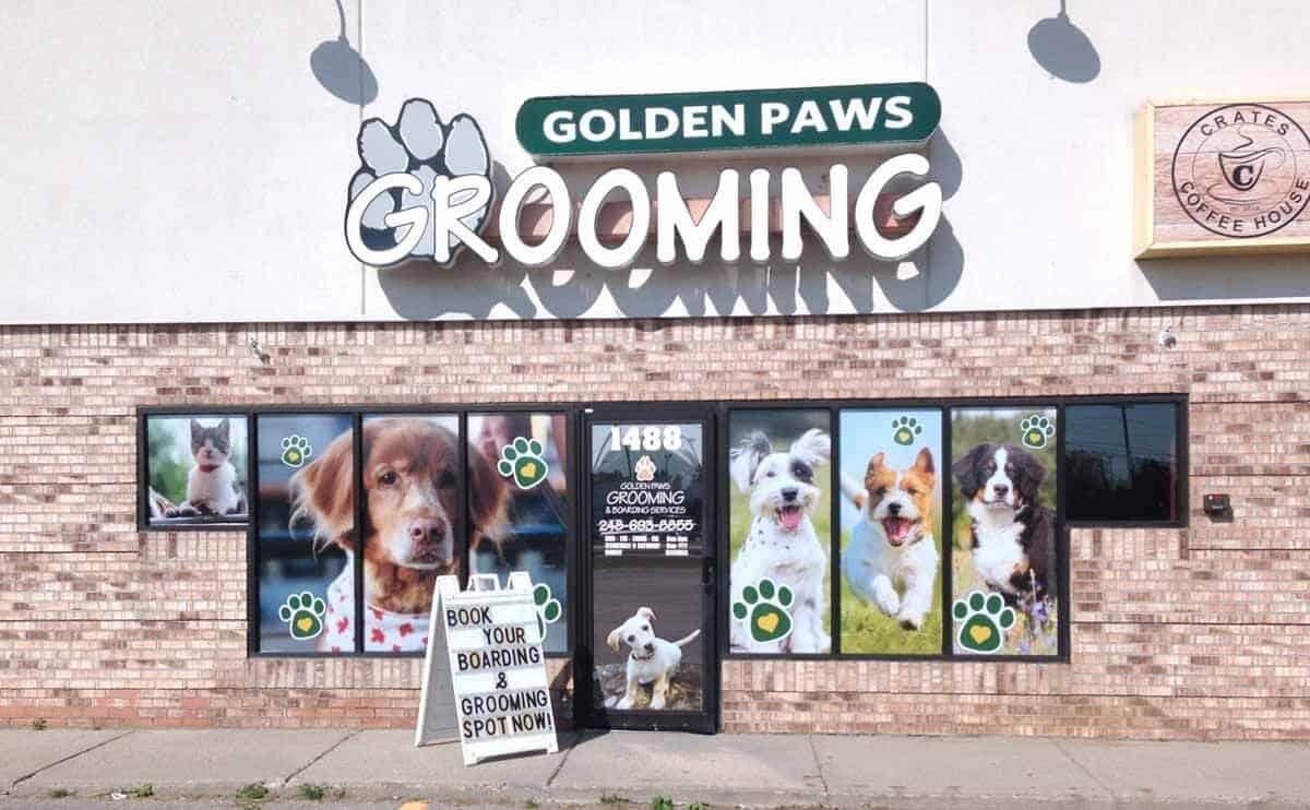 Dog Groomer Window Stickers
