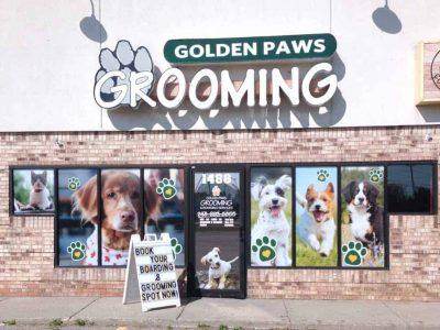 Dog Groomer Window Stickers