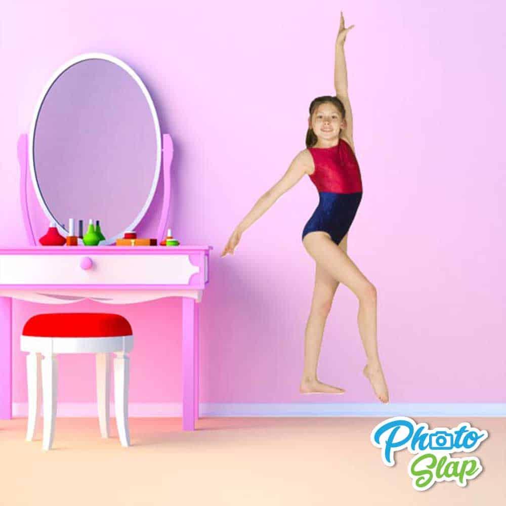Gymnastics Kid Bedroom Cutout Sticker
