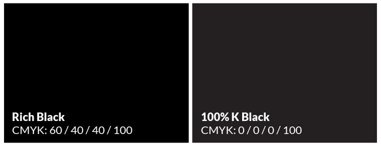 Rich Black CMYK