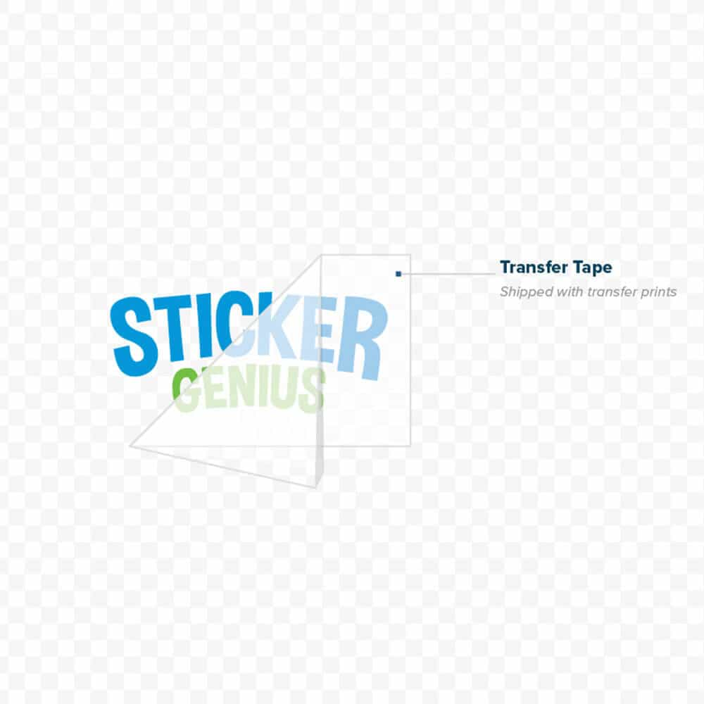Cut Vinyl Decals Custom Cut Vinyl Stickers Sticker Genius - Transfer tape for vinyl decals