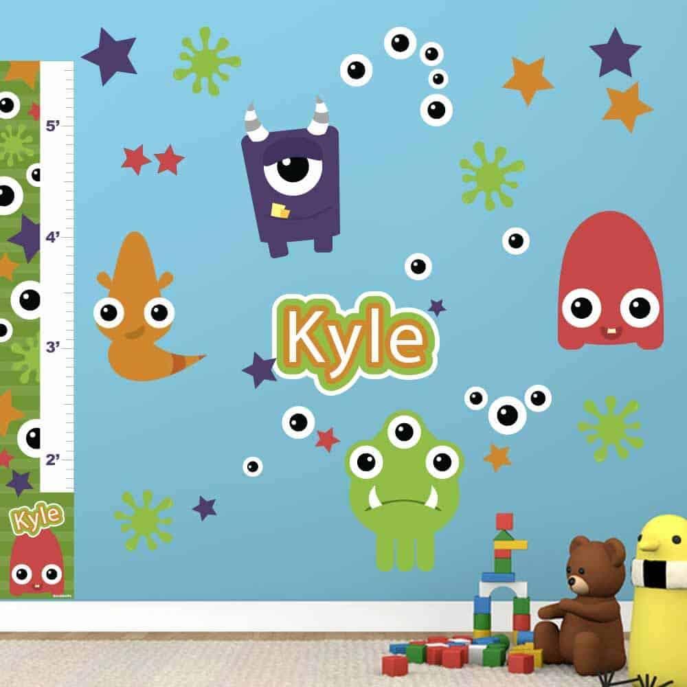 Monsters Wall Decals Room Bundle