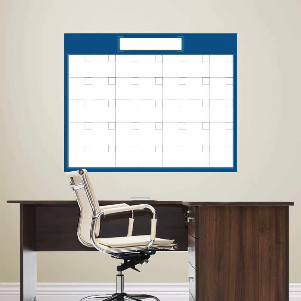 dry erase wall calendar wall decal calendar sticker genius